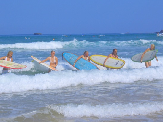surf camp and surf school in somo, santander just for girls